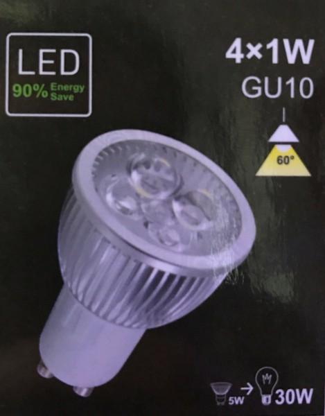 5W Power LED GU10 (4x1W SMD´s wie 30W) - Dimmbar - kaltweiß - kalt weiss - WoW