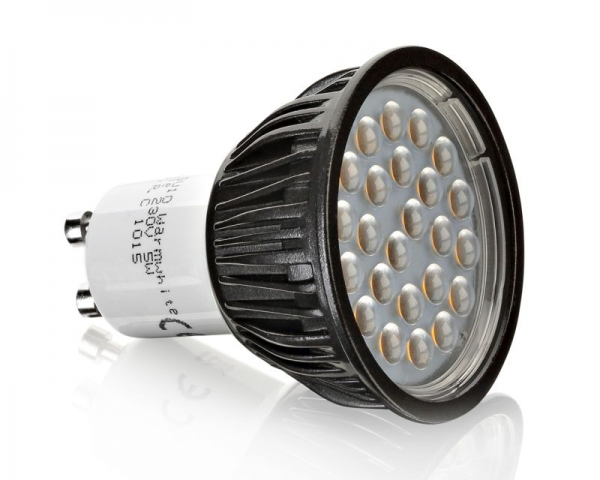GU10 LED DIMMBAR 24 SMD 5W in warmweiss - 350 Lumen - 3000-3200K - WoW