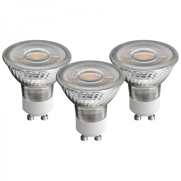 3er SET LED GU10 5W=50W 300 lumen warmweiss warm weiss 2700k optisch wie Halogen
