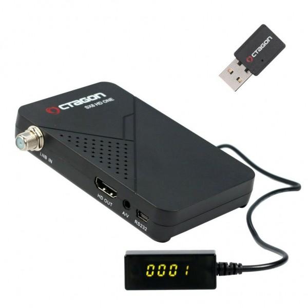 Octagon SX8 Mini Full HD DVB-S2 Multistream Mini Wlan Youtube,IPTV Sat Receiver