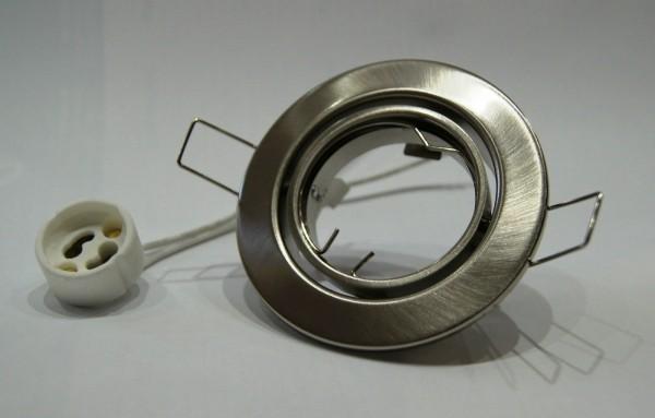 10 x Einbaustrahler Set eisengebürstet / matt inkl. 10 x GU10 Fassung 230 Volt