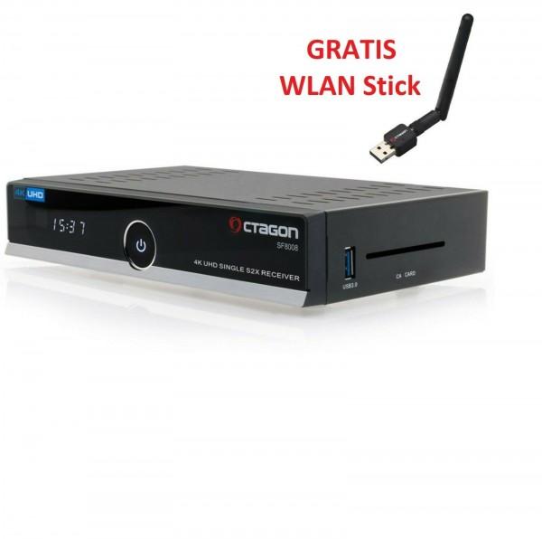 OCTAGON SF8008 4K UHD 2160p USB 3.0 E2 Linux Multistream DVB-S2X Sat X Receiver