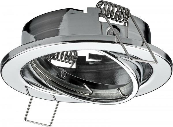Einbaustrahler Chrom/glänzend inkl. GU10 Fassung 230 Volt ideal für LED