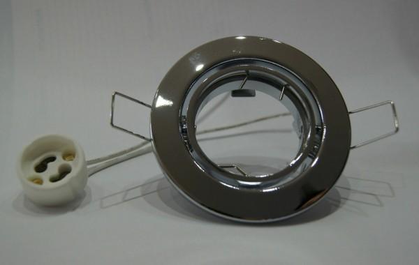 E4405-4 Einbauspot Einbaustrahler Chrom glänzend zB.: ideal für LED